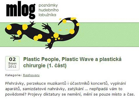 Plastic People, Plastic Wave and Plastic Surgery - Mlog Blog