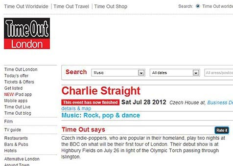 Time Out London – Charlie Straight